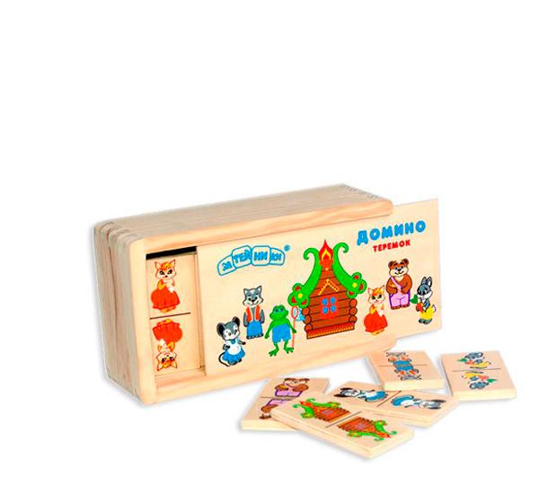 Деревянная игрушка Затейники Домино Теремок
