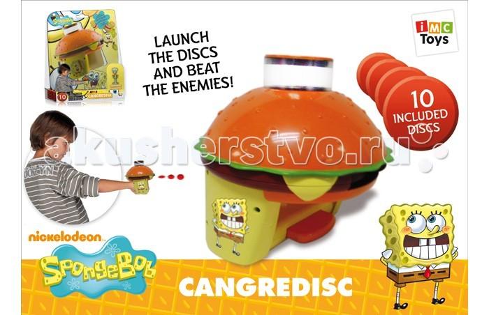 IMC toys Nickelodeon Дискострел SpongeBob с 10 дискамиNickelodeon Дискострел SpongeBob с 10 дискамиIMC toys Nickelodeon Дискострел SpongeBob с 10 дисками - главный герой популярного американского одноимённого мультипликационного сериала Губка Боб.   Игрушка стреляем мягкими, безопасными дисками. Что бы вылетел диск, нужно нажать на кнопку, в комплект входит 10 мягких дисков.  Размер диска: 4 см.  Для работы требуются батарейки.<br>