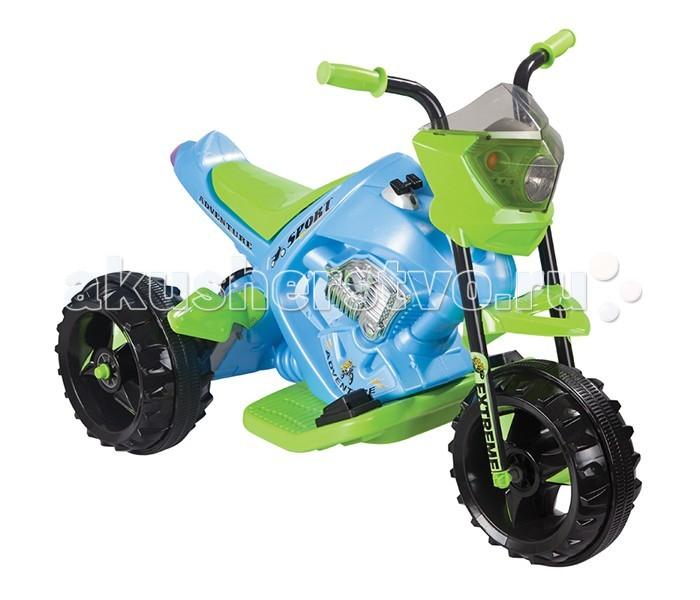 Электромобиль Pilsan Adventure Motor BatteryAdventure Motor BatteryЭлектромотоцикл Pilsan Adventure Motor Battery - детский электромотоцикл для весёлых, захватывающих и комфортных поездок вашего малыша. Управляя этим автомобилем, Ваш ребенок с самого раннего детства приобретет навыки уверенного вождения. Ведь это фактически настоящий автомобиль, только маленький и безопасный.   Музыкальный сигнал Аккумулятор 6V 12Ah Автоматическое торможение при снятии ноги с педали Колеса с бесшумным покрытием Рычаг переключения Вперед/Назад Удобное сидение Двигатель 1X6V с задним расположением  Для детей от 3-6 лет  Наличие плавкого предохранителя Педаль газа  Передние фары  Максимальная скорость 3.5 км/ч Максимальная грузоподъемность 35 кг  Цвета в ассортименте.   Размер машинки - 66.5х95х54.5 см.  Компания Pilsan начала свою историю в 1942 году. Сегодня – это компания-гигант индустрии крупногабаритных детских игрушек, которая экспортирует свою продукцию в 57 стран мира. Компанией выпускается 146 наименований продукции – аккумуляторные и педальные автомобили, велосипеды, развивающие игрушки и аксессуары для детей. Вся продукция Pilsan сертифицирована и отвечает международным стандартам качества.<br>