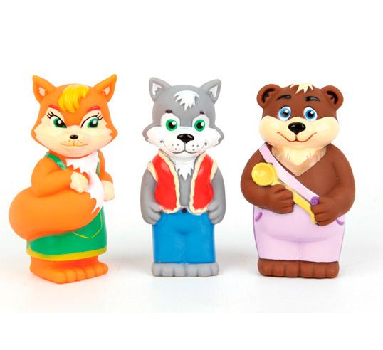 Затейники Набор Лисичка, Волк и МедведьНабор Лисичка, Волк и МедведьЗатейники Набор Лисичка, Волк и Медведь - это замечательный игровой набор для купания, который станет отличным подарком для любого малыша.   Особенности: В процессе игры ребенок будет выдумывать различные сюжеты, развивая свое воображение.  Все элементы набора изготовлены из высококачественных полимерных материалов. Теперь купание будет проходить весело и интересно.<br>