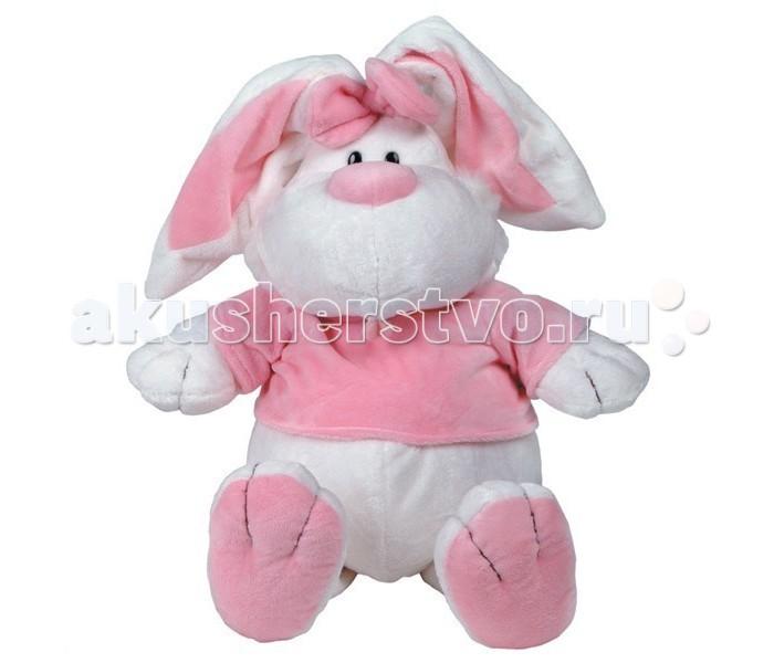 Мягкая игрушка Gulliver Кролик белый сидячий 56 смКролик белый сидячий 56 смКролик БЕЛЫЙ сидячий станет чудесным подарком малышу  Кролик БЕЛЫЙ сидячий 56 см – милая и приятная на ощупь мягкая игрушка, которая порадует как малышей, так и детей постарше. Забавный и симпатичный кролик станет лучшим другом для любого ребенка. Он надолго увлечет детей и подарит массу позитива и положительных эмоций. Кролик одет в футболку и имеет забавный бантик.   Подходит такая мягкая игрушка для игры как мальчикам, так и девочкам, с ним можно засыпать, он подарит спокойствие и крепкий сон. Высота мягкой игрушки от компании Gulliver составляет 56 сантиметров. Сшита она из мягкого текстиля и плюша.   Кролик невероятно реалистичный, будто настоящий – добрый и ласковый. С такой игрушкой можно играть в самые разнообразные игры - можно кормить его с ложечки или гулять с ним, можно разыгрывать интересные сценки с различным сюжетом. Так как кролик сидячий, его очень удобно катать в детской игрушечной коляске.   Мягкие игрушки Gulliver развивают у детей мышление, фантазию, воображение и внимание, способствуют формирования речи, воспитывают у детей доброжелательность и заботливость по отношению к животным. Если совместить его с другими мягкими игрушками, то можно устроить игру в зоопарк, звериную школу или детский сад.  Мягкие игрушки предназначены для детей от 3 лет.   Продукция сертифицирована, экологически безопасна для ребенка, использованные красители не токсичны и гипоаллергенны.<br>