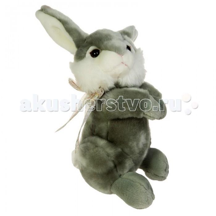 Мягкая игрушка Gulliver Зайка с бантиком на шее 25 см