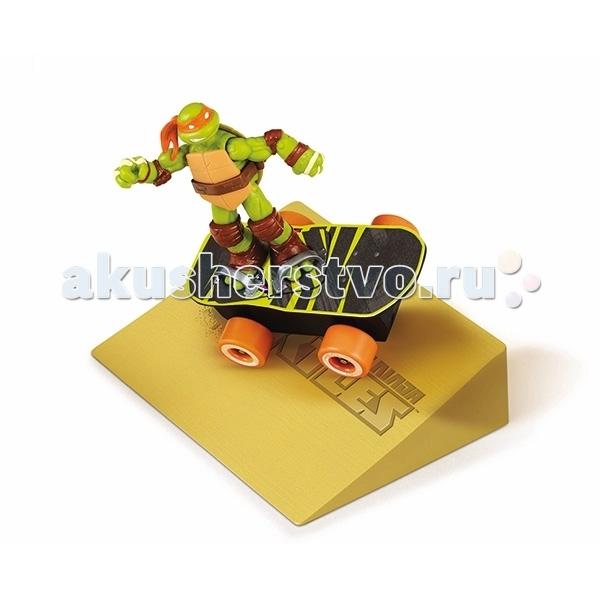 Turtles Скейтборд Черепашки Ниндзя (без фигурки)Скейтборд Черепашки Ниндзя (без фигурки)Скейтборд Черепашки Ниндзя (без фигурки)  Скейтборд Черепашек - ниндзя подходит для выполнения трюков. Инерционный механизм и два режима подвески, позволяет выполнить более 10 различных трюков: разворот на месте на 360° вокруг своей оси, при столкновении с препятствием разворот на 360° вокруг своей оси и многое другое.  Фигурка в набор не входит, можно приобрести отдельно: 90501, 90502, 90503, 90504.  Игровой набор для детей от 4-х лет и старше. Размер упаковки (ШхДхВ): 28*40*28 см.<br>