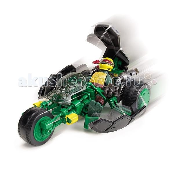 Turtles Трицикл Черепашки Ниндзя с фигуркойТрицикл Черепашки Ниндзя с фигуркойТрицикл Черепашки Ниндзя с фигуркой  Боевой мотоцикл «Стэлс» или «Невидимка» с эксклюзивной фигуркой Черепашки-ниндзя  Рафаэля.  Мотоцикл трансформируется из невидимого режима, в боевой, одним нажатием на панцирь.   Мотоцикл трехколесный, колеса вращаются. Фигурка мутанта Черепашки-ниндзя  Рафаэля имеет шарнирное устройство конечностей и при игре, можно фиксировать нужное положение.  В трицикл можно посадить фигурки Черепашек-ниндзя Микеланджело, Рафаэля, Леонардо и Донателло, артикулы: 90501, 90502, 90503, 90504.  Игровой набор для детей 4-х лет и старше. Размер упаковки (ШхДхВ): 24*45*35 см.<br>