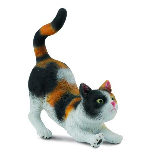 Gulliver Collecta Фигурка Кошка трехцветная потягивающаяся 7 см