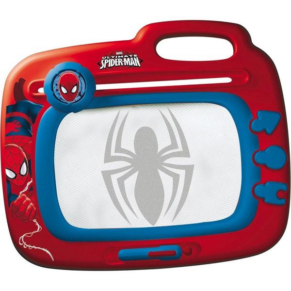 IMC toys Marvel Доска магнитная Spider-ManMarvel Доска магнитная Spider-ManIMC toys Marvel Доска магнитная Spider-Man - выполнена в стиле Spider-man, со специальной магнитной ручкой и штампиками.  На экране доски можно рисовать, писать, украшать рисунки штампиками, создавать рисунки из штампиков или копировать уже готовые рисунки (для этого готовый рисунок накладывают сверху на экран и обводят картинку магнитной ручкой, потом убирают рисунок, а на экране остается скопированное изображение).<br>