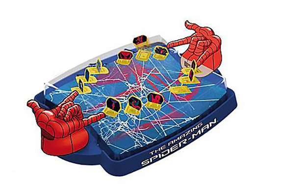 IMC toys Marvel Игра Кто самый ловкий с 2мя джойстиками и пульками Spider-ManMarvel Игра Кто самый ловкий с 2мя джойстиками и пульками Spider-ManIMC toys Marvel Игра Кто самый ловкий с 2мя джойстиками и пульками Spider-Man - увлекательная игра, которая помогает развить наблюдательность и внимательность к деталям.  Суть игры состоит в том, чтобы угадать персонажа, изображенного на карточке вашего партнера.   Игра будет просто незаменима для поездок с детьми.<br>
