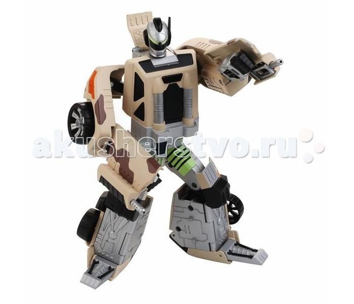 Hap-p-Kid Робот-трансформер Спорт 4115TРобот-трансформер Спорт 4115TУниверсальная модель робота с вращающимися частями и трансформирующегося в спортивную машинку камуфляжной расцветки станет любимой детской игрушкой.  Подвижные части тела игрушки позволяют принимать роботу различные положения, а Вашему юному инженеру-конструктору обеспечивают новые идеи и варианты для сборки.   Благодаря шарнирным соединениям игрушечная фигурка имеет подвижные элементы, а детали игрушки легко разбираются и свободно вращаются на 360 градусов.   С таким функциональным игровым приобретением каждому маленькому фантазеру можно выстраивать различные захватывающие сюжеты и придумывать интересные ролевые игры.   В процессе новой увлекательной игры тренируется мелкая моторика и ловкость движений, зрительное и тактильное восприятие, проявляются фантазии и воображение.   Все составляющие игрушки выполнены из прочного и высококачественного материала, стойкого к изнашиванию и не содержащего в составе вредных красителей.  Высота фигурки: 17.5 см. В комплекте: робот-автомобиль.<br>