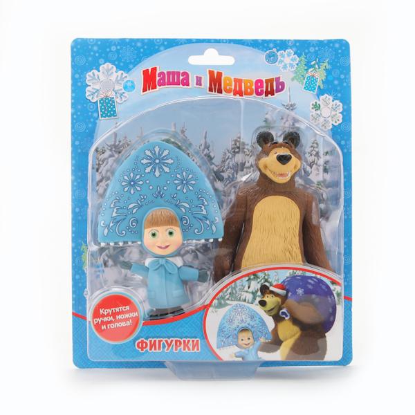 Играем вместе Набор из 2-х фигурок: медведь и Маша-снегурочка