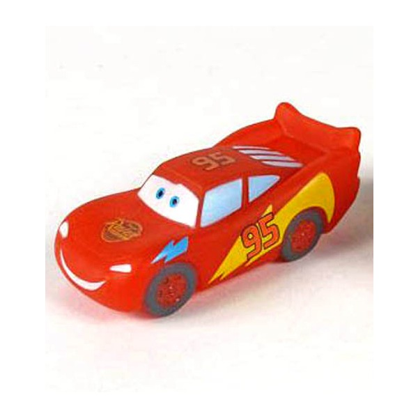 Играем вместе Машинка Молния МакквинМашинка Молния МакквинИгрушка Играем вместе Disney Макквин со светом на блистере со светом и звуком в виде персонажа популярного мультфильма Тачки (Cars) - Молнии Маккуина (Lightning McQueen)! При соприкосновении датчика с водой машинка светится, и играет песня Молнии Маккуина из мультфильма.<br>