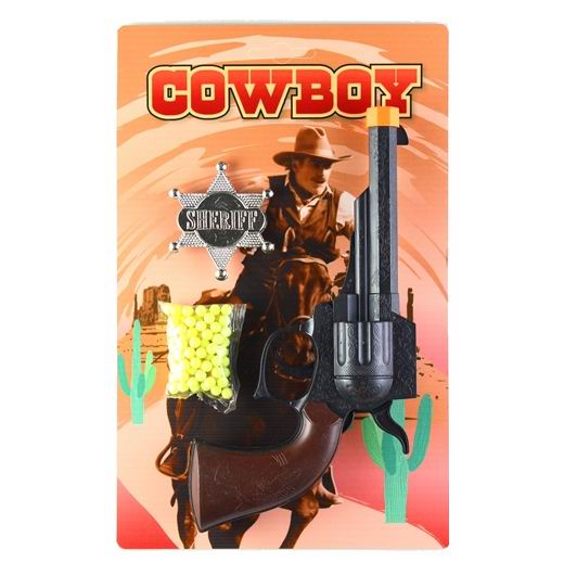 Игрушечное оружие Pullman Cowboy Игровой набор пистолет, значок шерифа и пульки
