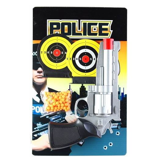 Игрушечное оружие Pullman Police Игровой набор пистолет, 2 мишени и пульки