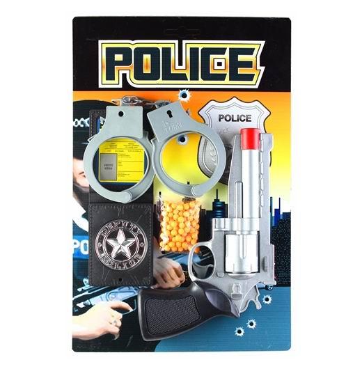 Игрушечное оружие Pullman Police Игровой набор пистолет, наручники, полицейское удостоверение и пульки