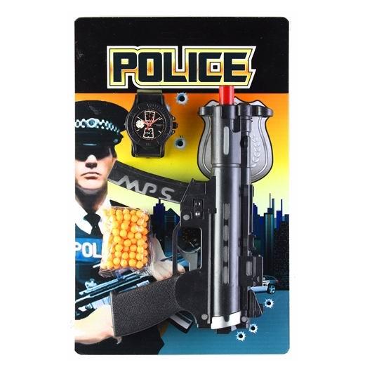 Игрушечное оружие Pullman Police Игровой набор пистолет, полицейский значок и пульки