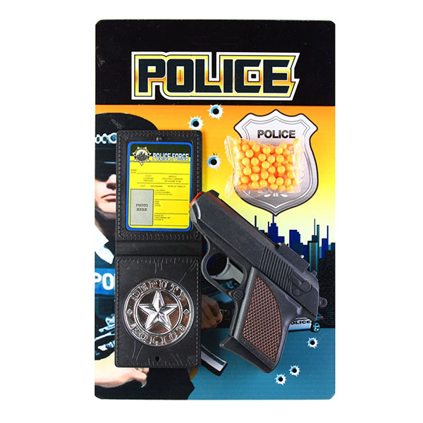 Игрушечное оружие Pullman Police Игровой набор пистолет, полицейское удостоверение и пульки