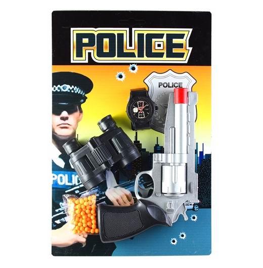 Игрушечное оружие Pullman Police Игровой набор пистолет, часы, бинокль и пульки