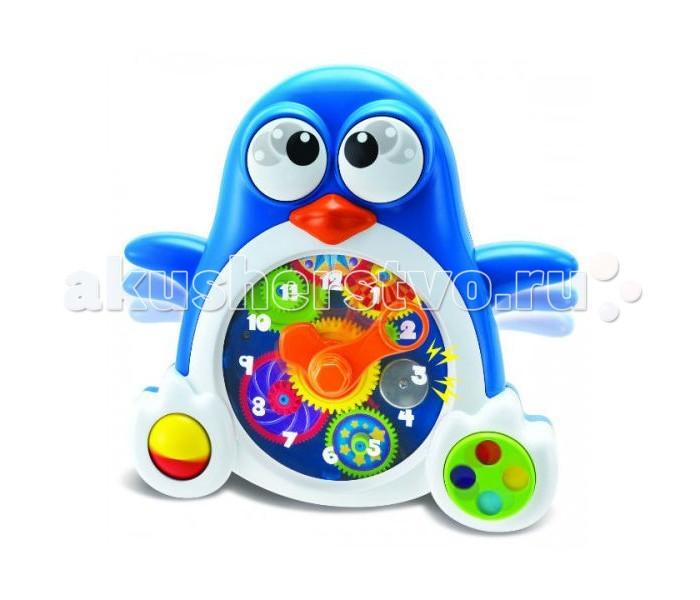Развивающая игрушка Keenway Пингвиненок-часыПингвиненок-часыПингвин-часы — это развивающая игрушка, созданная для комплексного развития малыша. Забавный красивый пигвиненок обучит малыша правильно определять время и теперь малыш сам сможет ориентироваться, когда ему садиться кушать, а когда пора спать.  Развивающая игрушка подарит ребенку множество позитивных эмоций и хорошее настроение, с ней невозможно заскучать!  Развитие мелкой моторики, координация движений.  Издает различные звуки.  Работает от батареек типа АА (в комплекте).<br>