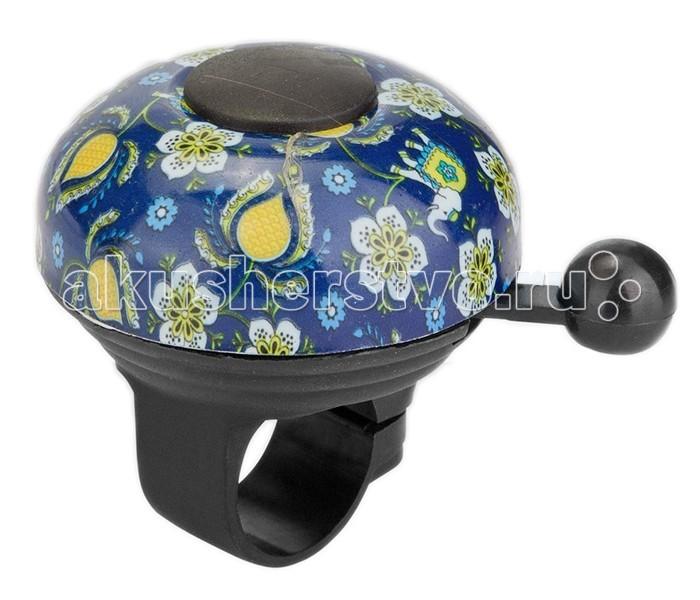 Аксессуары для велосипедов R-Toys Звонок Цветы алюминий чёрно-синий