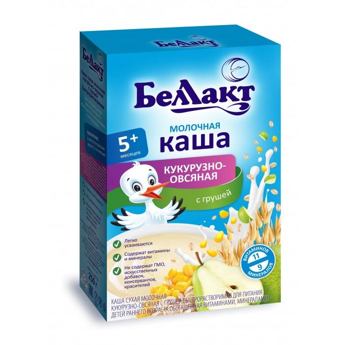 Беллакт Молочная Кукурузно-овсяная каша с грушей с 5 мес., 250 г