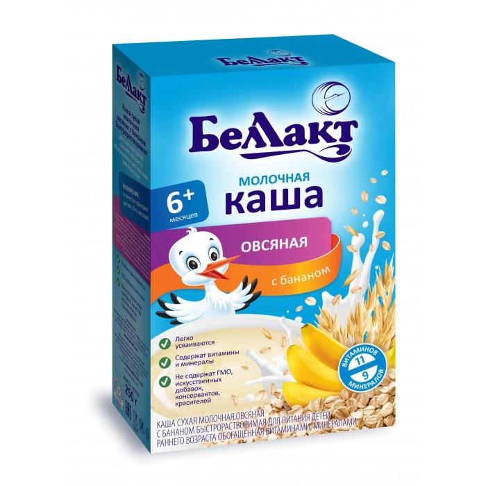 Беллакт Молочная Овсяная каша с бананом с 6 мес., 250 г