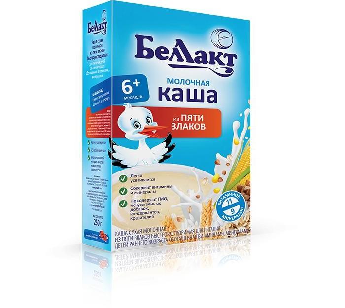 Беллакт Молочная каша 5 злаков с 7 мес., 250 г