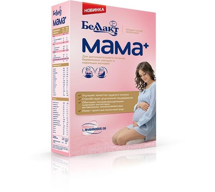 Беллакт Сухая молочная смесь Мама 400 гСухая молочная смесь Мама 400 гНазначение: Для удовлетворения физиологической потребности организма беременной и кормящей женщины, а также других лиц, нуждающихся в дополнительном белковом питании.   Описание: Обеспечивает дополнительные потребности беременных и кормящих женщин в легкоусвояемом белке, витаминах, микроэлементах Улучшает качество грудного молока Обогащен полиненасыщенными жирными кислотами, необходимыми для формирования сетчатки глаза, мозга, сердца ребенка  Продукт содержит: фолиевую кислоту, которая снижает риск возникновения врожденной патологии нервной системы ребенка пребиотики, улучшающие пищеварение, препятствующие развитию дисбактериоза пробиотик – Lactobacillus rhamnosus GG в питании беременных женщин и кормящих матерей снижает частоту атопического дерматита у детей и ослабляет тяжесть течения заболевания  Продукт используется для приготовления напитка, а также в качестве добавки к чаю, какао, каше и другим блюдам с температурой (40 – 45) С  Пищевая ценность в 100 мл восстановленного продукта (приготовленного для кормления): Углеводы, г - 10.1 Белок, г - 4.0 Жир, г - 2.2 Энергетическая ценность, ккал - 77.0  Срок хранения: 2 года  Необходима консультация специалистов.<br>