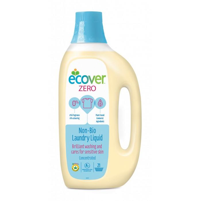 Ecover Экологическая жидкость для стирки Zero 1.5 лЭкологическая жидкость для стирки Zero 1.5 лЭкологическая жидкость для стирки Zero Ecover подходит для стирки любого белого и цветного белья, идеально подходит для одежды младенцев и детей. Экологические препараты «Эковер» созданы только на растительной и минеральной основе, НЕ содержат нефтепродуктов, НЕ содержат синтетических отдушек. БЕЗ оптического отбеливателя. Препарат полностью биоразлагаем, не наносит ущерба окружающей среде и источникам воды.  Состав: >30% вода, 15-30% неионные ПАВ, 5-15% анионные ПАВ,<br>