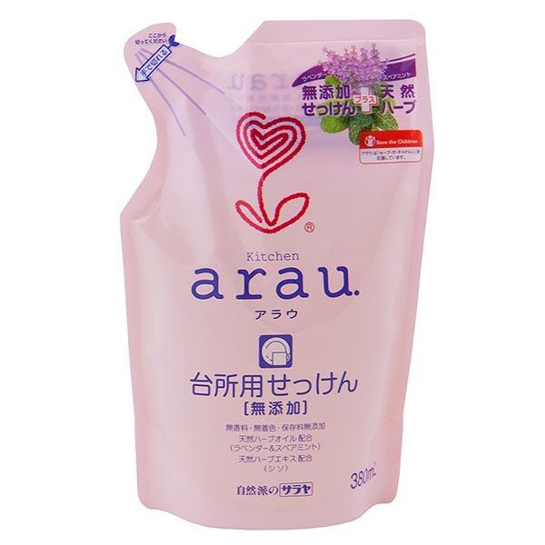 Моющие средства Saraya Arau Средство для мытья детской посуды 380 мл (наполнитель)