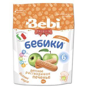 Печенье Bebi Детское растворимое печенье Бебики с яблоком 6 мес.