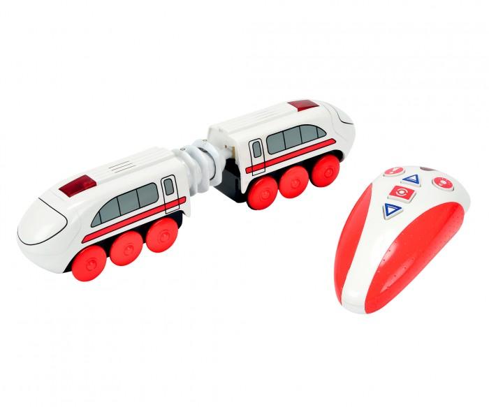 Eichhorn Скоростной поезд с п/уСкоростной поезд с п/уСкоростной поезд с пультом управления,  со светом и звуком, длина 20,5см.  В набор входят электропоезд, пульт управления, батарейки.<br>