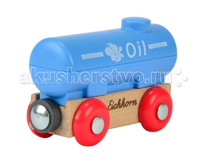 Eichhorn Вагон танкерВагон танкерВагон танкер.  Вагон с цистерной длиной 8 см. Вагон может быть присоединён к любому грузовому составу деревянной железной дороги Eichhorn.<br>