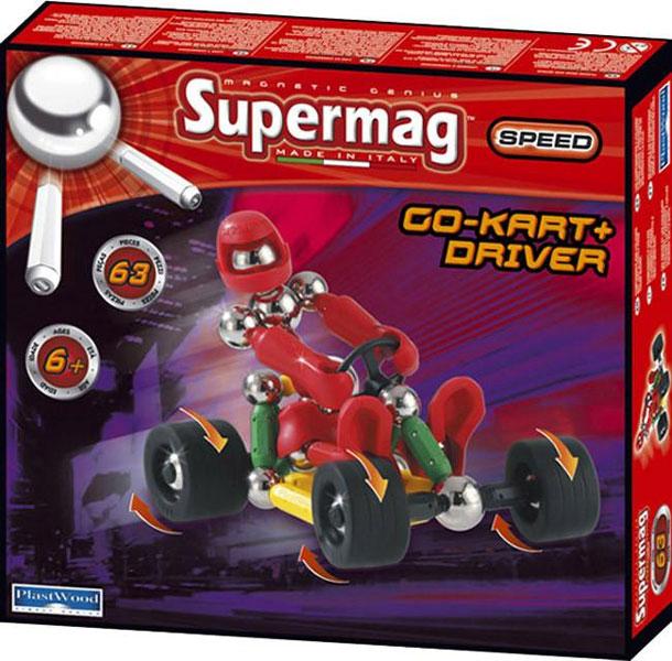 Конструктор Plastwood Supermag Speed Go Kart+DriverSupermag Speed Go Kart+DriverPlastwood Supermag Speed Go Kart + Driver - это магнитный конструктор, из деталей которого ребенок может создать подвижную модель квадроцикла или любую другую конструкцию.  Он способствует развитию логического и пространственного мышления, а также мелкой моторики. Вашему ребенку обязательно понравится данный набор, ведь с ним можно делать самые разнообразные объемные фигуры.   Из деталей конструктора можно собрать не только подвижную модель Карта с водителем, но и любую другую конструкцию, созданную воображением. Полностью совместим с любым другим магнитным конструктором.  Возраст ребенка: 6+ Количество деталей: 63  В комплект входят: магнитные стержни разной длины металлические никелированные шарики с резьбой и без пластиковые гнущиеся и нет стержни с резьбой  колеса.<br>