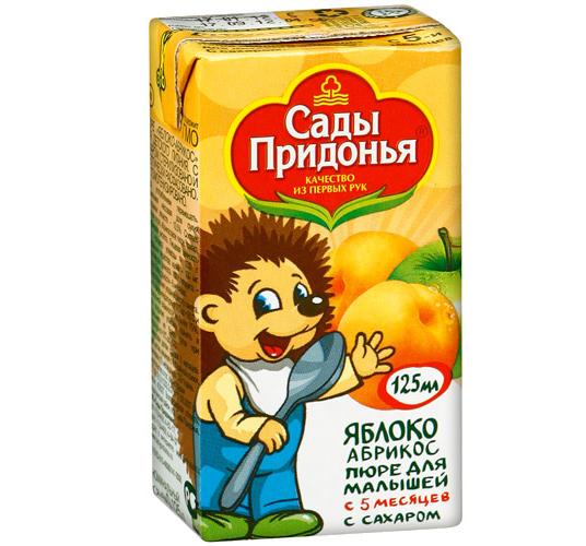 Сады Придонья Пюре яблоко с абрикосом с 5 мес. 125 г