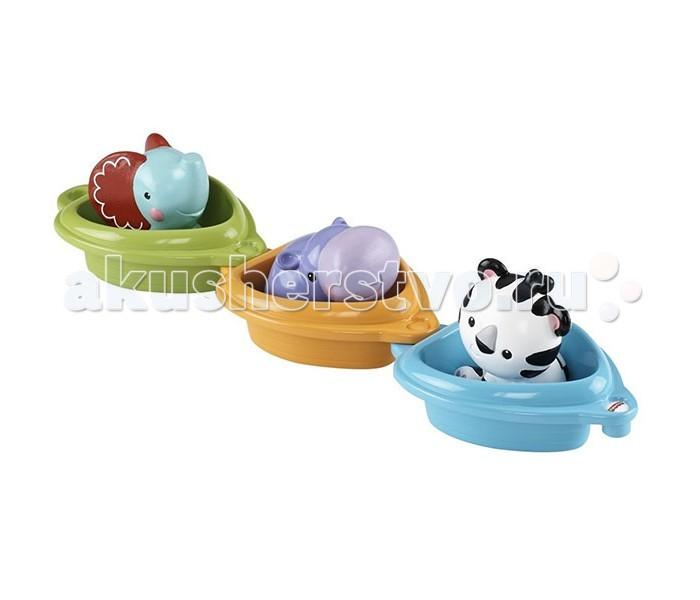 Fisher Price Mattel Друзья в лодочкахMattel Друзья в лодочкахFisher Price Mattel Друзья в лодочках - увлекательный и красочный набор для купания, привлечет внимание Вашего малыша!  В наборе 3 очаровательных зверюшки, и у каждой есть своя лодочка!  На каждой лодочке прописаны цифры, которые помогут малышу научиться считать.   Соединение лодочки и размещение в них животных помогает в развитии мелкой моторики и зрительно-двигательной координации. Яркие цвета, различные текстуры развивают сенсорные навыки, а игра со зверушками-брызгалками учит причинно-следственному эффекту.<br>