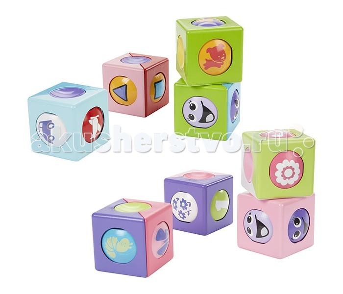 Развивающая игрушка Fisher Price Mattel Чудо кубикиMattel Чудо кубикиFisher Price Mattel Чудо кубики - в каждом ярком кубике находится внутри шарик, который вращается, возвращаясь к малышу различными забавными картинками.   Кубики можно составлять и катить с помощью шарика, при этом картинки на шарике будут меняться.   На каждом кубике своя картинка: смешные рожицы, цветы, цифры и животные.   Игра с кубиками развивает мелкую моторику, зрительно-двигательную координацию и навыки решения задач.<br>