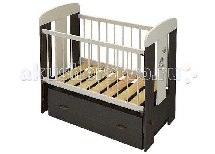 Детская кроватка Бэби Бум Зайка (маятник поперечный)