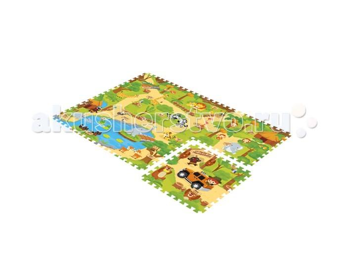 Игровой коврик Mambobaby пазл Зоопарк