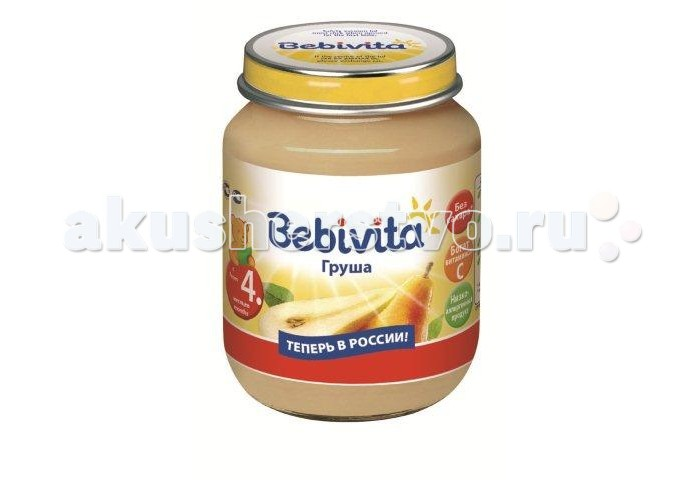 Bebivita Пюре Груша с 4 мес. 100 г