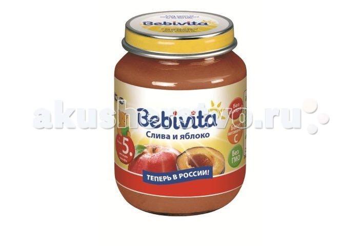 Bebivita Пюре Слива и яблоко с 5 мес. 100 г