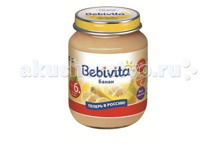 Bebivita Пюре Банан с 6 мес. 100 г