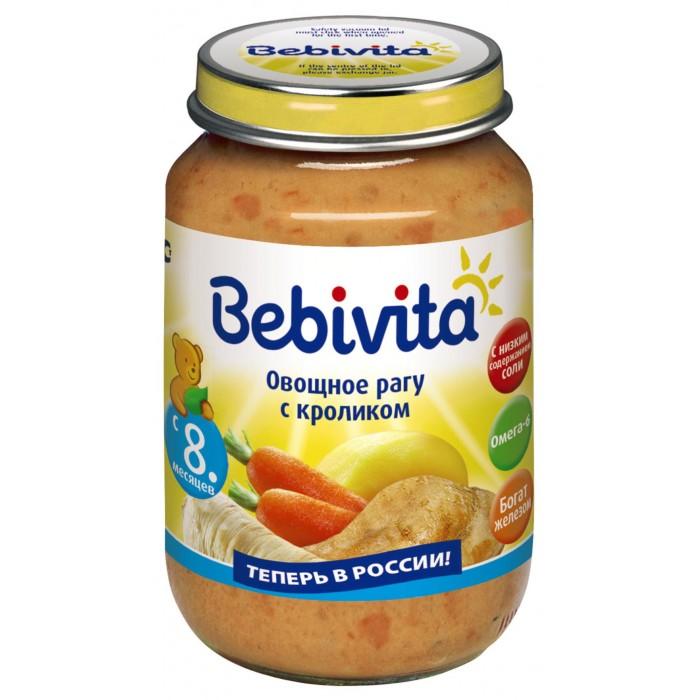 Bebivita Пюре Овощное рагу с кроликом с 8 мес. 190 г