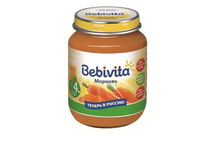 Bebivita Пюре Морковь с 4 мес. 100 г