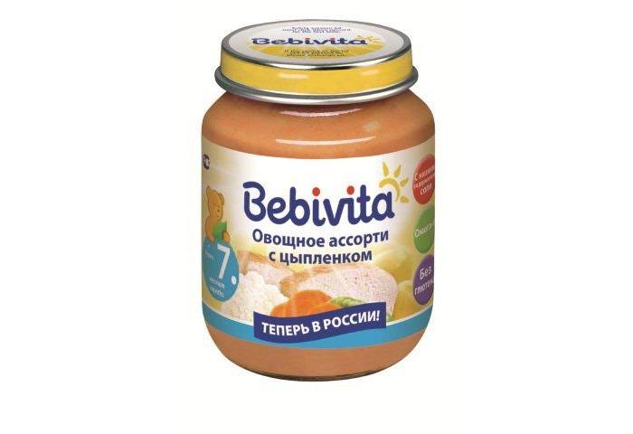 Bebivita Пюре Овощное ассорти с цыплёнком с 7 мес. 100 г