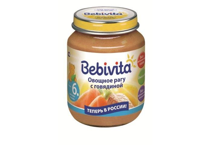 Bebivita Пюре Овощное рагу с говядиной с 6 мес. 100 г