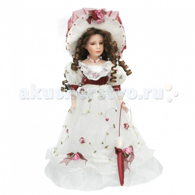 Lisa Jane Кукла фарфоровая Вероника 18 45.7 смКукла фарфоровая Вероника 18 45.7 смКукла фарфоровая Вероника 18 45.7 см.  Фарфоровые куклы «Lisa Jane» созданы по лицензии знаменитой американской фотохудожницы Лизы Джейн. При создании кукол «Lisa Jane» дизайнеры уделяют внимание абсолютно всем частям тела, каждая деталь играет важную роль в создании образа: изящный фарфор, миловидное лицо, великолепный наряд.  У кукол «Lisa Jane» очень нежный, немного бледный оттенок кожи, глаза сделаны очень натуралистично, изготавливаются они специально из безопасного пластика.   Все куклы имеют индивидуальные цвет и радужную оболочку глаз.  Отдельное внимание уделяется пушистым ресницам, волосам кукол и прическе. Куклы настолько индивидуальны, что у каждой свое неповторимое имя.  Высота куклы: 45.7 см<br>