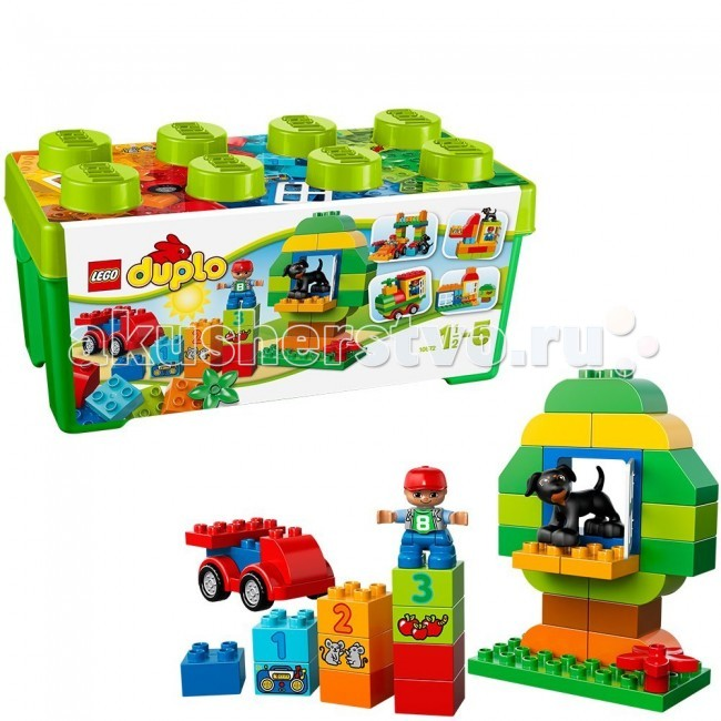 Конструктор Lego Duplo 10572 Лего Дупло МеханикDuplo 10572 Лего Дупло МеханикКонструктор Lego Duplo 10572 Лего Дупло Механик содержит 65 деталей для создания самых разных построек!  Основа набора – закругленный остов машины с вращающимися колесами.  Ее можно преобразовывать в разные модели – насколько хватит фантазии.  Также, в комплекте есть специальные элементы для строительства домов и аксессуары.   Конструктор можно использовать для обучения – на некоторых кубиках изображены цифры и веселые картинки.   В набор входят и классические кубики Дупло, с их помощью можно существенно разнообразить постройки.  Все элементы сочетаются с деталями из других наборов Лего Дупло.  В набор входит: мини фигурка водителя и собачки 2 открывающихся окна для строительства домов основа для машинки с колесами кубики с цифрами и животными классические кубики Дупло инструкция по сборке. Количество деталей: 65 шт.<br>