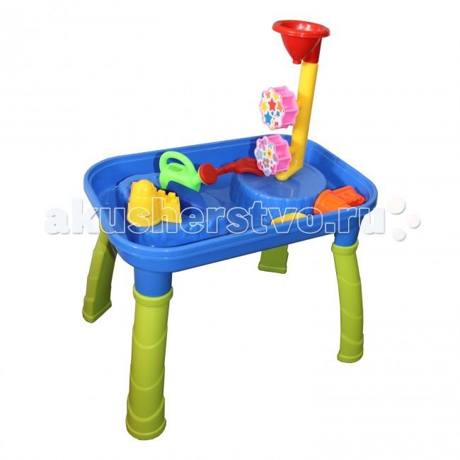 Игралия Стол-Песочница Веселый Пляж с водяной мельницей QQ-605