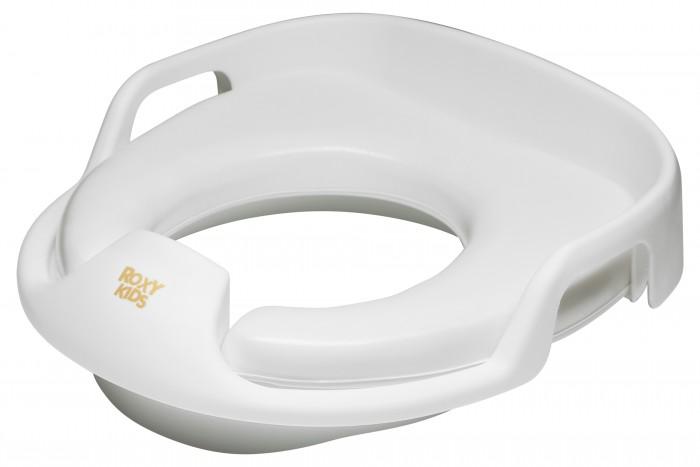 Roxy Адаптер для унитазов с ручками вверхАдаптер для унитазов с ручками вверхАдаптер для унитазов Roxy с ручками в стороны поможет малышу привыкнуть ко взрослому туалету и обеспечит крохе необходимый комфорт.    Особенности:    Удобная анатомическая форма, мягкость сидения и наличие ручек, за которые удобно держаться - все это делает адаптер незаменимым помощником для малыша, только-только привыкающего к взрослому туалету.  Устройство легко моется и подходит для всех типов унитазов.  Изготовлено из безопасного полимерного сырья.   Обращаем ваше внимание, что оставлять ребенка на унитазе без присмотра не рекомендуется.<br>