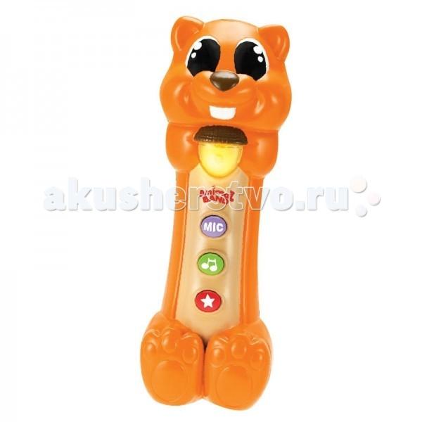 Интерактивная игрушка Keenway Поющая белочкаПоющая белочкаЗабавная Белка со звуковыми эффектами.  Нажимая на большую кнопку на животе игрушки, малыш услышит веселую песенку или забавные звуки,так же у Белки открываются и закрываются глаза. Микрофон в форме белочки, с забавными звуками и светом, 2 батарейки АА входят в комплект Игрушка развивает слуховое восприятие и логическое мышление.  Код товара: 1000000922 Артикул: 31965KW Размер упаковки: 21х10х13 Вес: 0.4 кг.<br>