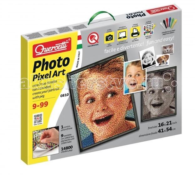 Quercetti Пиксельная мозаика Любимое фото (14800 элементов)
